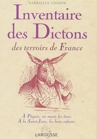 Gabrielle Cosson - Inventaire des dictons des terroirs de France.