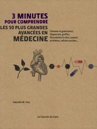Gabrielle Finn - 3 minutes pour comprendre les 50 plus grandes avancées en médecine - Chamans et guérisseurs, Hippocrate, greffes, fécondation in vitro, scanner, prothèses, cellules souches....