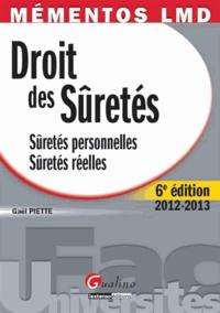 Droit des sûretés 2012-2013- Sûretés personnelles, Sûretés réelles - Gaël Piette pdf epub