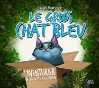 Gaël Rodrigue et Pierre Rodrigue - Le Gros Chat Bleu - et la boîte en carton.