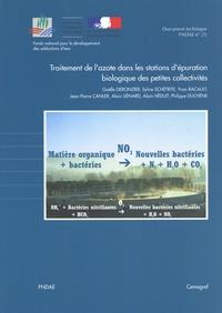 Gaëlle Deronzier et Sylvie Schétrite - Traitement de l'azote dans les stations d'épuration biologique des petites collectivités.