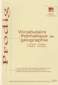 Gaëlle Hallair - Vocabulaire thématique de géographie Français-Anglais.