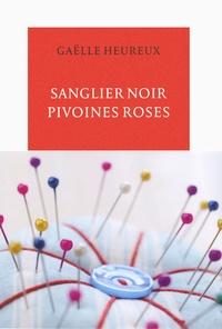 Gaëlle Heureux - Sanglier noir, pivoines roses.