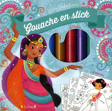 Gaëlle Souppart - Gouache en stick - Avec 5 tubes, 1 pochoir, 8 cartes à décorer.