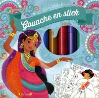 Gouache en stick - Avec 5 tubes, 1 pochoir, 8 cartes à décorer.pdf