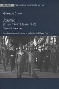 Meilleurs livres à télécharger sur iphone Journal  - Volume 2 (11 juin 1940 - 8 février 1943) DJVU PDB CHM 9782810703968