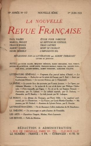 La Nouvelle Revue Française (1908-1943) N° 117 juin 1923