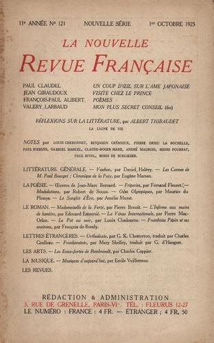 La Nouvelle Revue Française (1908-1943) N° 121 octobre 1923