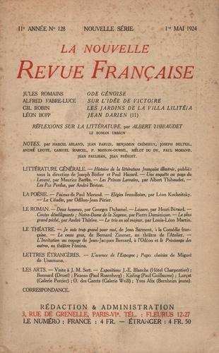 La Nouvelle Revue Française (1908-1943) N° 128 mai 1924