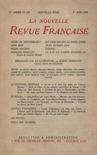 La Nouvelle Revue Française (1908-1943) N° 129 juin 1924