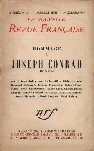 La Nouvelle Revue Française (1908-1943) N° 135 décembre 1924 Hommage à Joseph Conrad. 1857-1924