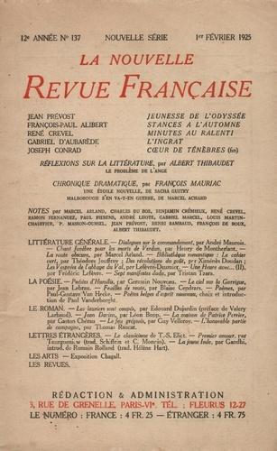 La Nouvelle Revue Française (1908-1943) N° 137 février 1925