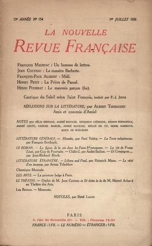 La Nouvelle Revue Française (1908-1943) N° 154 juillet 1926