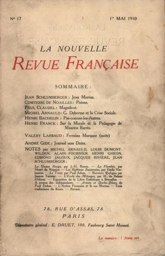 La Nouvelle Revue Française (1908-1943) N° 17 mai 1910