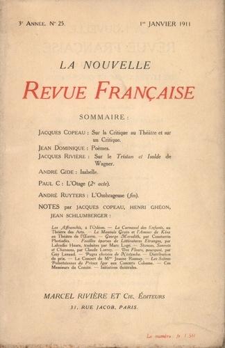 La Nouvelle Revue Française (1908-1943) N° 25 février 1911