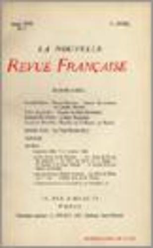 La Nouvelle Revue Française (1908-1943) N° 3 avril 1909