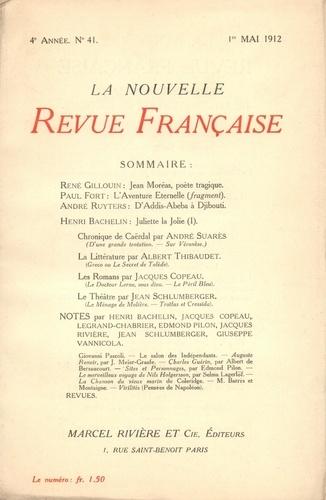 La Nouvelle Revue Française (1908-1943) N° 41 mai 1912