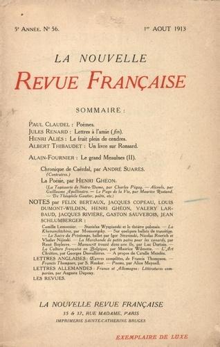 La Nouvelle Revue Française (1908-1943) N° 56 août 1913