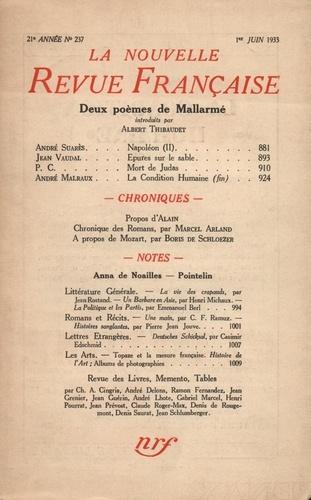 La Nouvelle Revue Française (1908-1943) N° 237 juin 1933