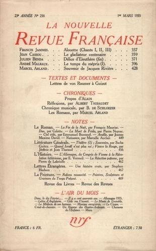 La Nouvelle Revue Française (1908-1943) N° 258 mars 1935