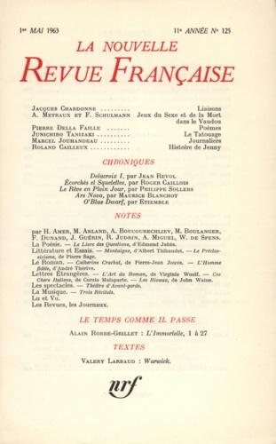La Nouvelle Revue Française N° 125, mai 1963