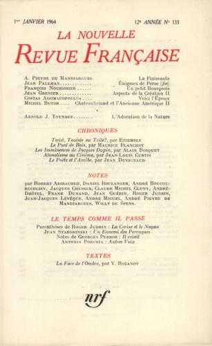 La Nouvelle Revue Française N° 133 janvier 1964