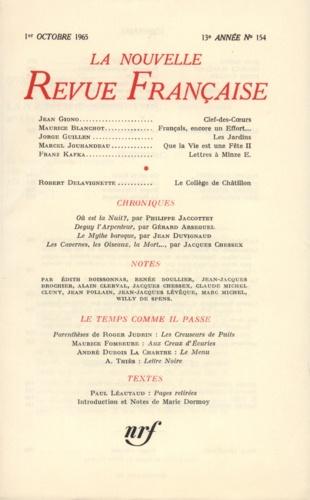 La Nouvelle Revue Française N° 154 octobre 1965