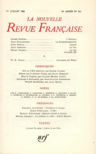 La Nouvelle Revue Française N° 163 juillet 1966