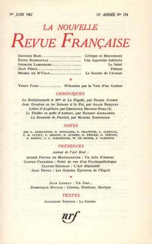 La Nouvelle Revue Française N° 174, juin 1967