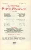 Gallimard - La Nouvelle Revue Française N° 175 juillet 1967 : C F Ramuz.