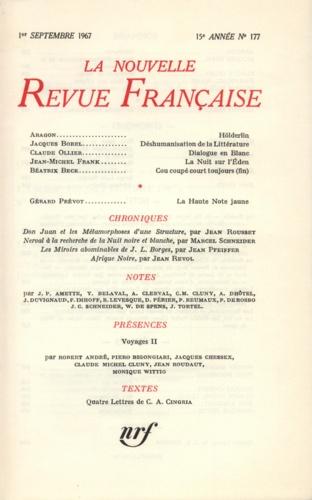 La Nouvelle Revue Française N° 177 sept 1967