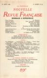 Gallimard - La Nouvelle Revue Française N° 20, Août 1954 : Hommage à Jules Supervielle.
