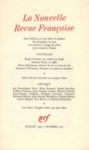 Gallimard - La Nouvelle Revue Française N° 271 juillet 1975 : .