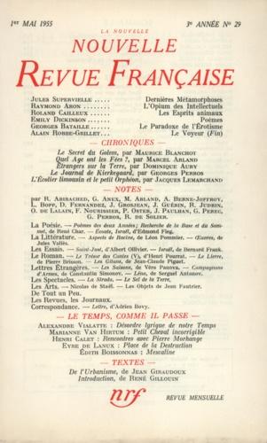 La Nouvelle Revue Française N° 29, mai 1955