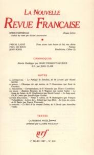 Gallimard - La Nouvelle Revue Française N° 410, mars 1987 : .
