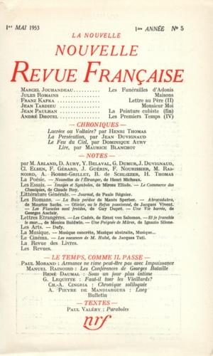 La Nouvelle Revue Française N° 5 mai 1953
