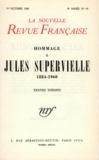 Gallimard - La Nouvelle Revue Française N° 94, Octobre 1960 : Hommage à Jules Supervielle (1884-1960).