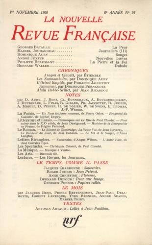 La Nouvelle Revue Française N° 95 novembre 1960