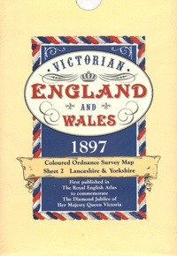 Old House Books - Victorian England and Wales 1897 - Coloured Ordonance Survey Map Sheet 2, Lancashire & Yorkshire.