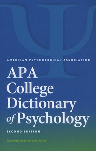 Gary-R VandenBos - APA College Dictionary of Psychology.