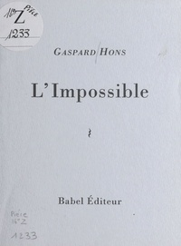 Gaspard Hons - L'Impossible.