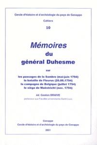 Gaston Braive - Mémoires du général Duhesme.