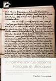 Gaston Cherpillod - In nomine spiritus absentis - Reliques et breloques.