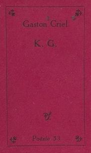 Gaston Criel - K. G..