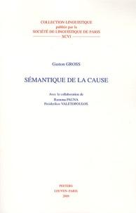 Gaston Gross - Sémantique de la cause.