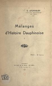 Gaston Letonnelier - Mélanges d'Histoire dauphinoise (1).