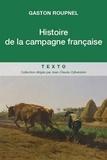 Gaston Roupnel - Histoire de la campagne française.