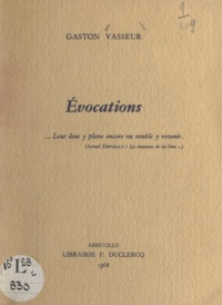 Gaston Vasseur - Évocations.