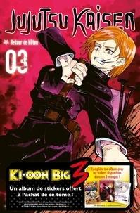 Gege Akutami - Jujutsu Kaisen Tome 3 : Retour de bâton - Avec un album de stickers offert.