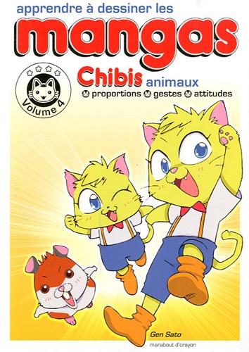 Gen Sato - Apprendre à dessiner les mangas - Volume 4, Chibis animaux.
